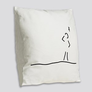 Alzheimer dementia Burlap Throw Pillow