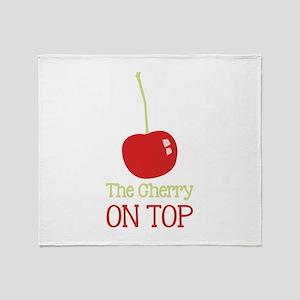 Cherry On Top Throw Blanket