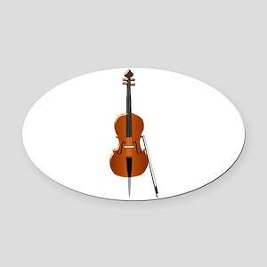 Cello Oval Car Magnet