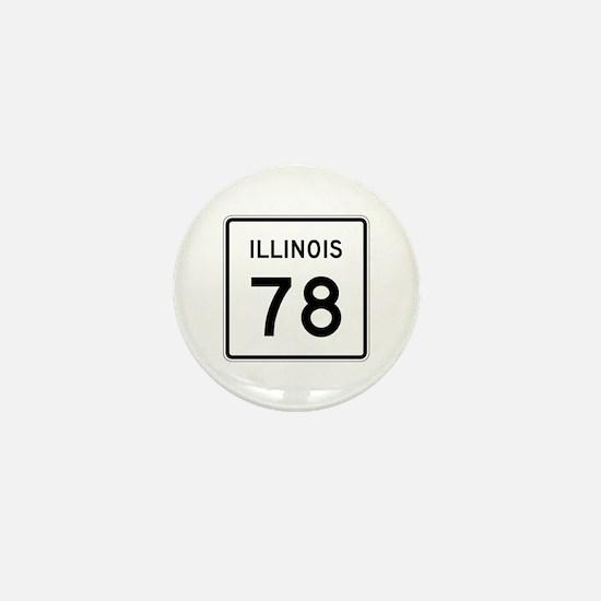 Route 78, Illinois Mini Button