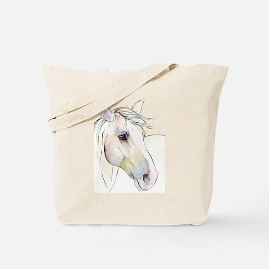 White Horse Eyes Tote Bag