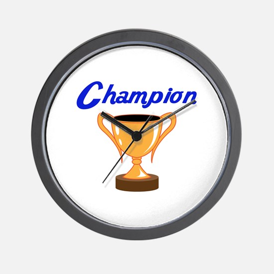 TROPHY CUP CHAMPION Wall Clock