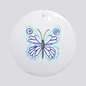 BUTTERFLY APPLIQUE Ornament (Round)