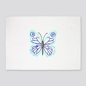 BUTTERFLY APPLIQUE 5'x7'Area Rug