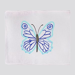 BUTTERFLY APPLIQUE Throw Blanket
