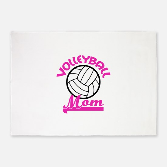 VOLLEYBALL MOM 5'x7'Area Rug