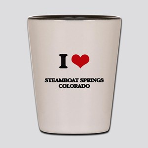 I love Steamboat Springs Colorado Shot Glass