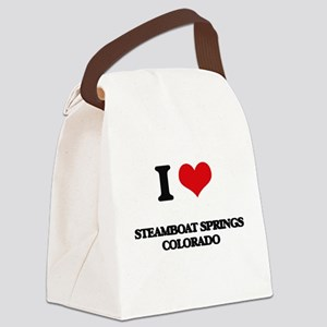 I love Steamboat Springs Colorado Canvas Lunch Bag