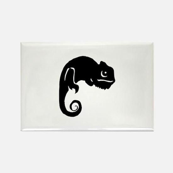 Chameleon Silhouette Magnets