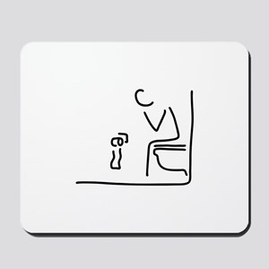 toilet digestion irritant bowel Mousepad