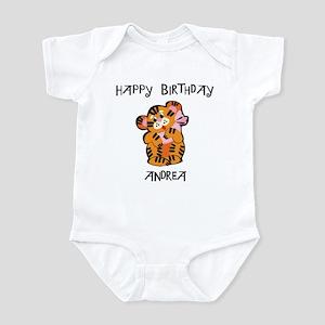 Happy Birthday Andrea (tiger) Infant Bodysuit