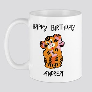 Happy Birthday Andrea (tiger) Mug
