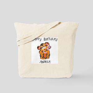 Happy Birthday Andrea (tiger) Tote Bag