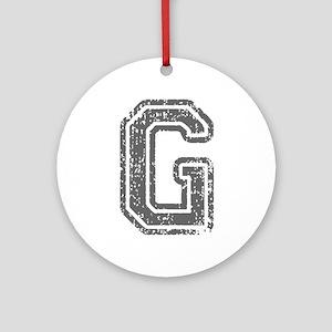 G-Col gray Ornament (Round)