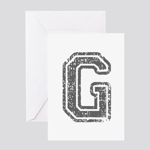 G-Col gray Greeting Cards