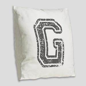 G-Col gray Burlap Throw Pillow