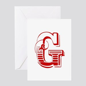 G-Max red2 Greeting Cards