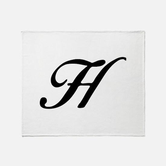 H-Bir black Throw Blanket