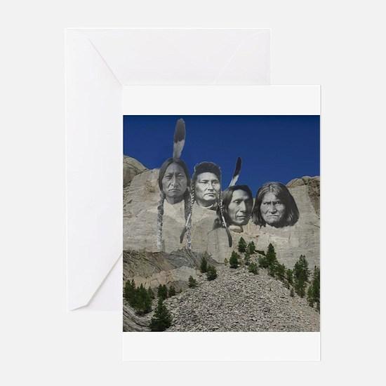 Native Mt. Rushmore Greeting Card