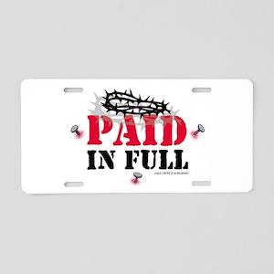 Jesus Paid In Full Aluminum License Plate