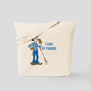 I Love my Farmer Tote Bag