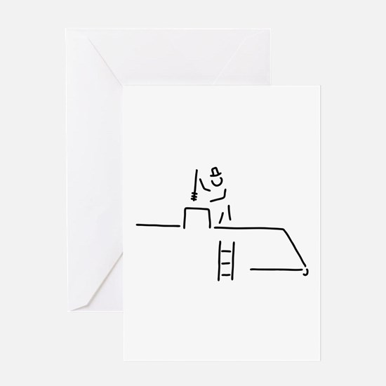 chimney sweep chimney-sweep Greeting Cards