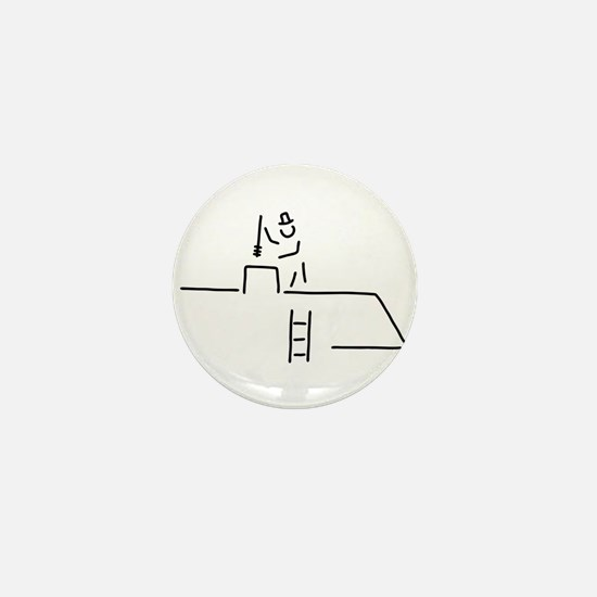 chimney sweep chimney-sweep Mini Button