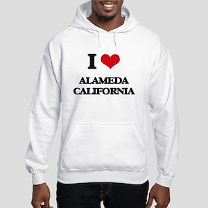I love Alameda California Hooded Sweatshirt