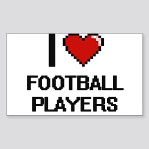I love Football Players Sticker
