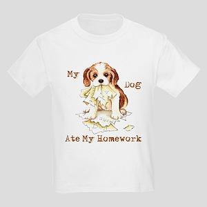 Cavalier Ate Homework Kids Light T-Shirt