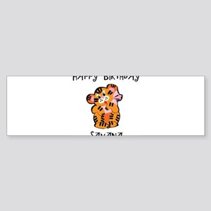 Happy Birthday Savana (tiger) Bumper Sticker