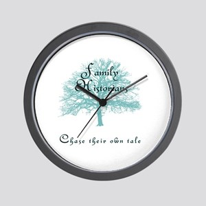 Family Historian Chase Tale Wall Clock