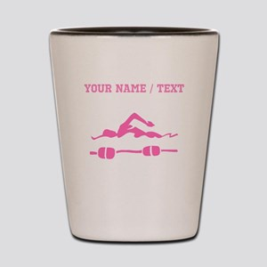 Pink Swimmer (Custom) Shot Glass