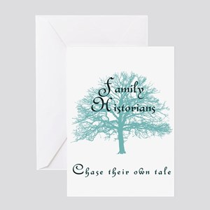 Family Historian Chase Tale Greeting Cards