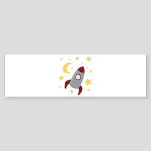 Rocket In Space Bumper Sticker