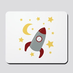 Rocket In Space Mousepad