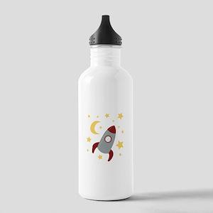 Rocket In Space Water Bottle