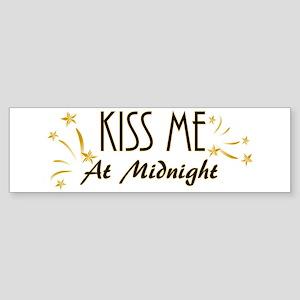 Kiss Me At Midnight Bumper Sticker