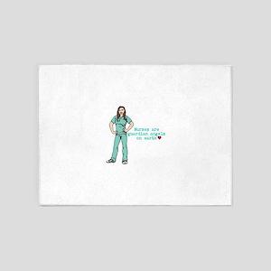 Nurses are Guardian Angels on Earth 5'x7'Area Rug