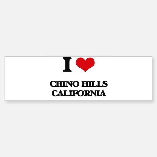 I love Chino Hills California Bumper Bumper Bumper Sticker
