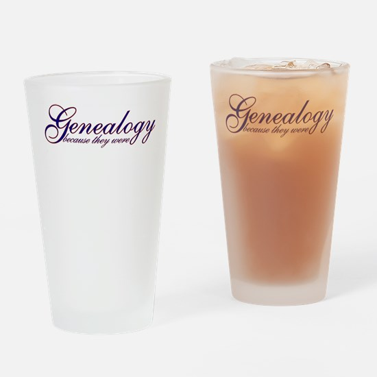 BecauseTheyWereShirt.png Drinking Glass