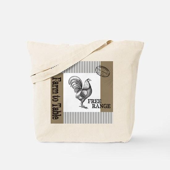 Modern Vintage Farmers Market Tote Bag