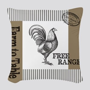 Modern Vintage Farmers Market Woven Throw Pillow