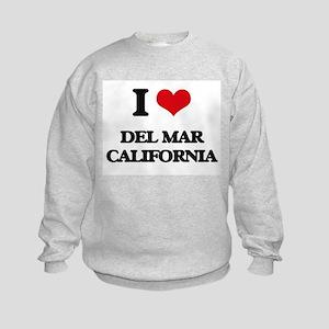 I love Del Mar California Kids Sweatshirt