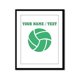 Green Volleyball (Custom) Framed Panel Print