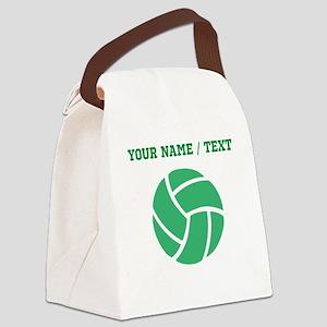 Green Volleyball (Custom) Canvas Lunch Bag
