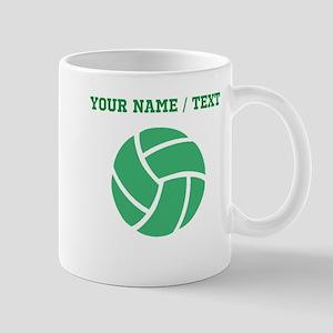 Green Volleyball (Custom) Mugs