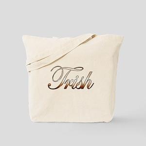 Gold Trish Tote Bag