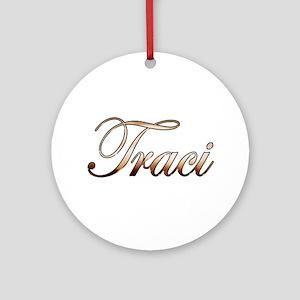 Gold Traci Round Ornament