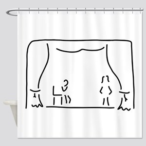 actor theatre stage Shower Curtain